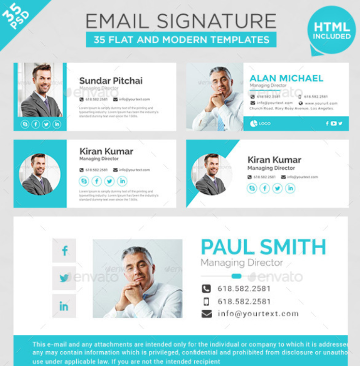 email signature templates html free download