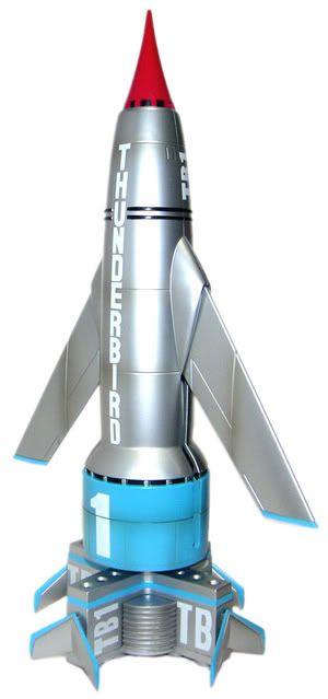 Thunderbird 1 Model Desenhos Animados Antigos Personagem