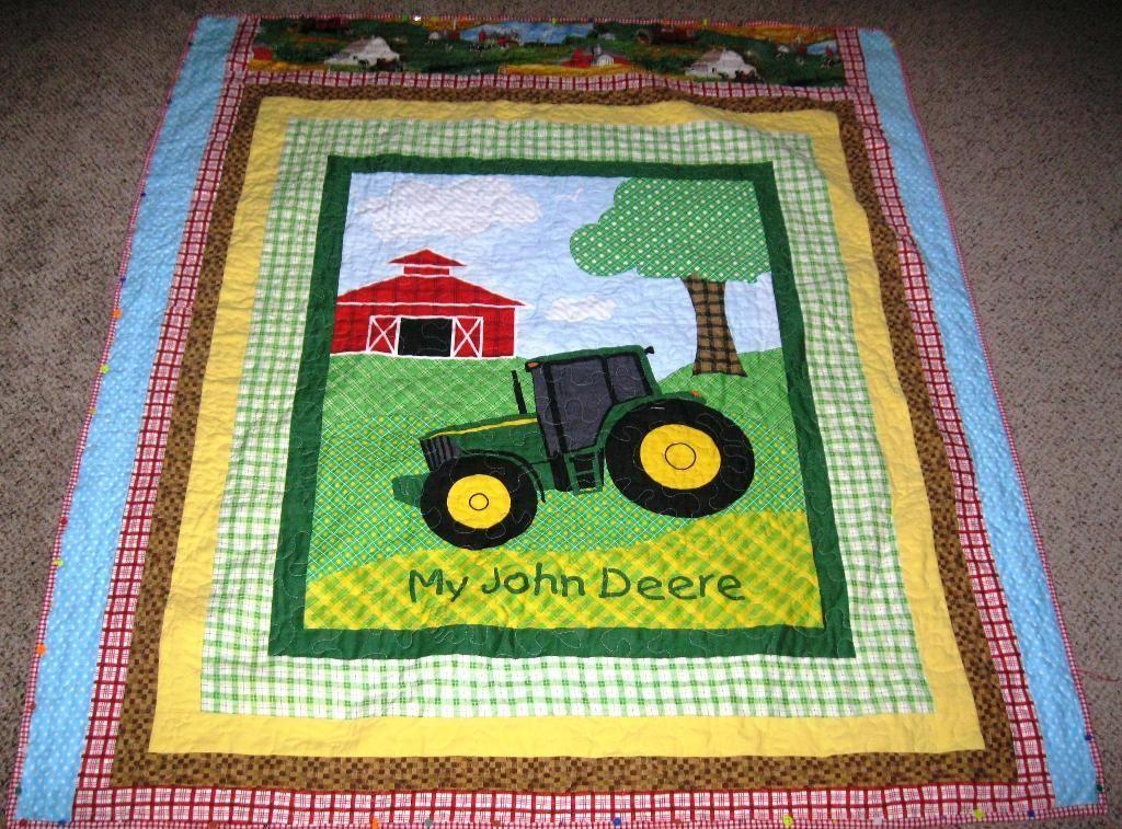 Quilt For Baby Boy John Deere Tractor Quiltarama Go Quilt