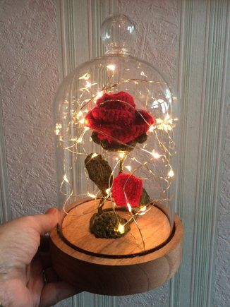 Rose In A Dome Beauty And The Beast Crochet Project Shared On The Lovecrochet Community Diy Roses Beauty And The Beast Flower Rose Crafts