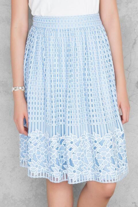 ea13a1cae Lytton Floral Midi Skirt | Francesca's | the closet of my dreams ...