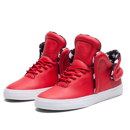 SUPRA FALCON BADGE ATHLECTIC RED WHITE WHITE Official SUPRA Footwear