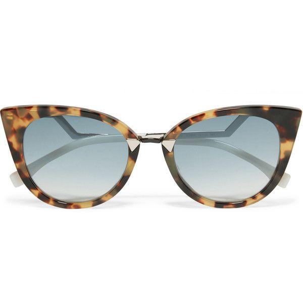 4acbe011319 Fendi Cat-eye acetate and silver-tone sunglasses (£240) ❤ liked on ...
