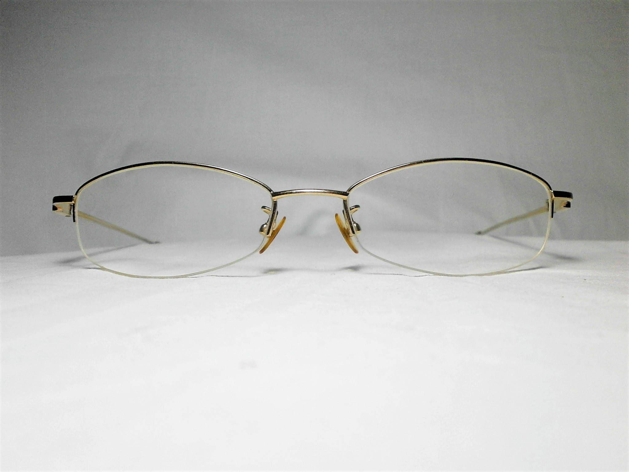 rare Silhouette oval WayFarer women/'s sunglasses super vintage NOS Gold plated Titanium men/'s rimless square