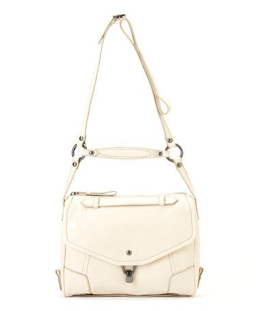 Chalk Convertible Alexa Leather Crossbody Bag by Kooba #zulily #zulilyfinds