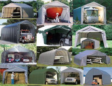 Shelter Logic portable garage | Homesteading: Outbuildings