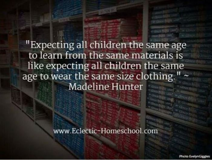Thought For The Day One Size Doesn T Fit All Homeschool Quotes Teaching Quotes Classroom Quotes