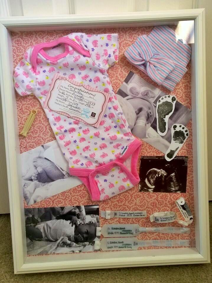 Newborn Shadow Box. This one is perfect!! | Gift idea | Pinterest ...