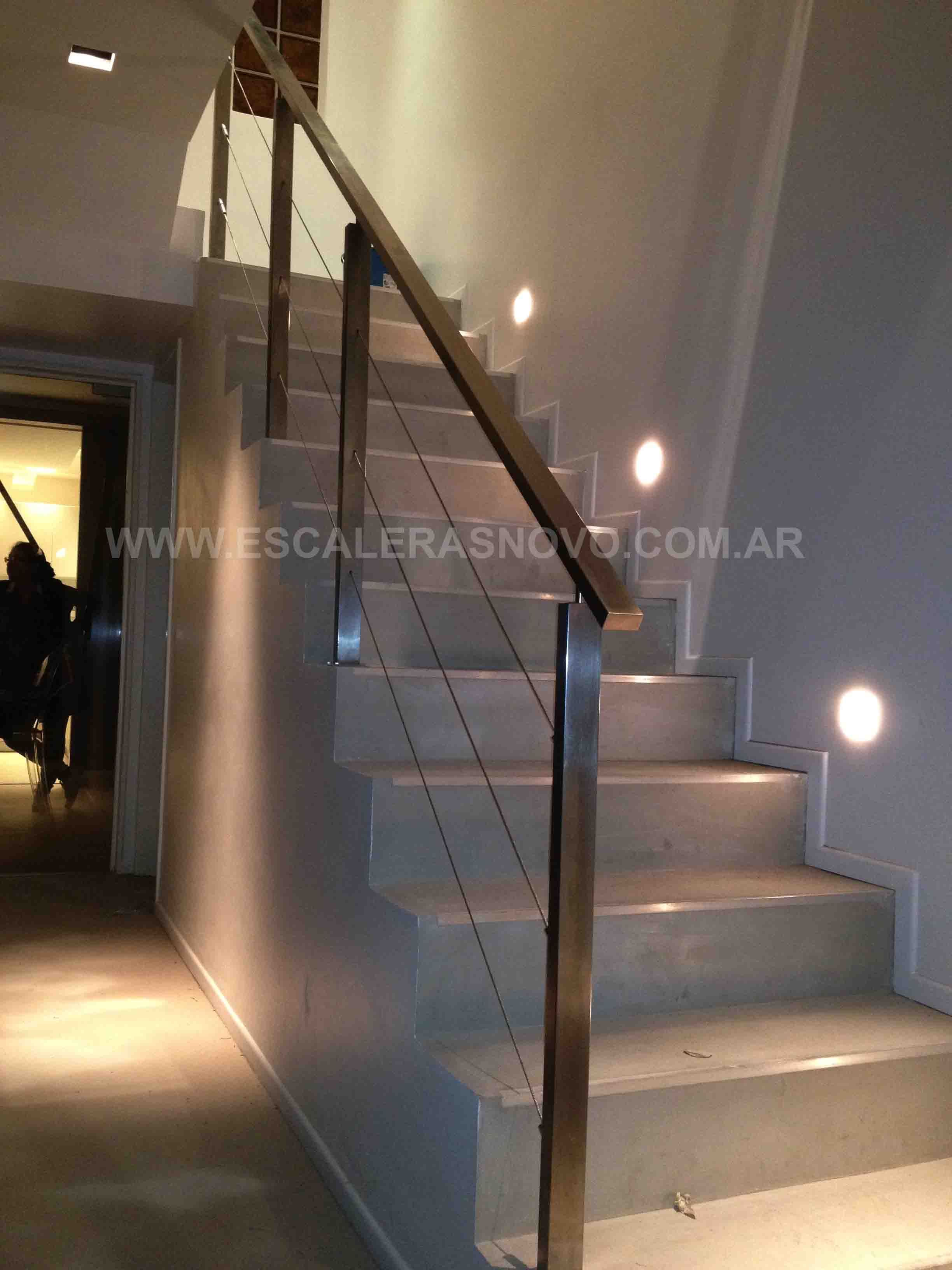 Barandas de acero inoxidable con tensores mod 13 venta de - Escaleras modernas interiores ...