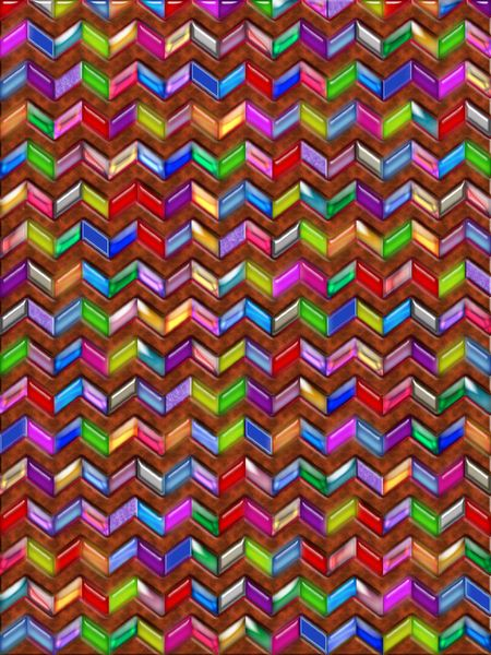 'Chevron Pattern Digital Art Faux Leather' by Blake Robson on artflakes.com as poster or art print $14.38
