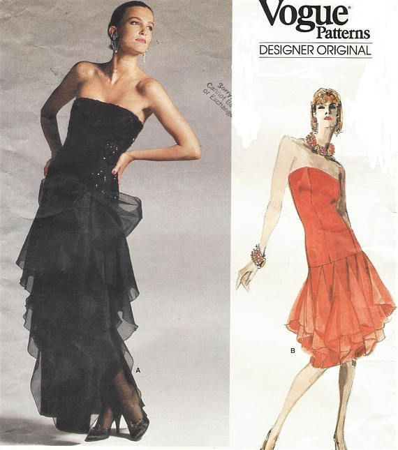 80s Bellville Sassoon Womens Strapless Evening Gown Cocktail or ...