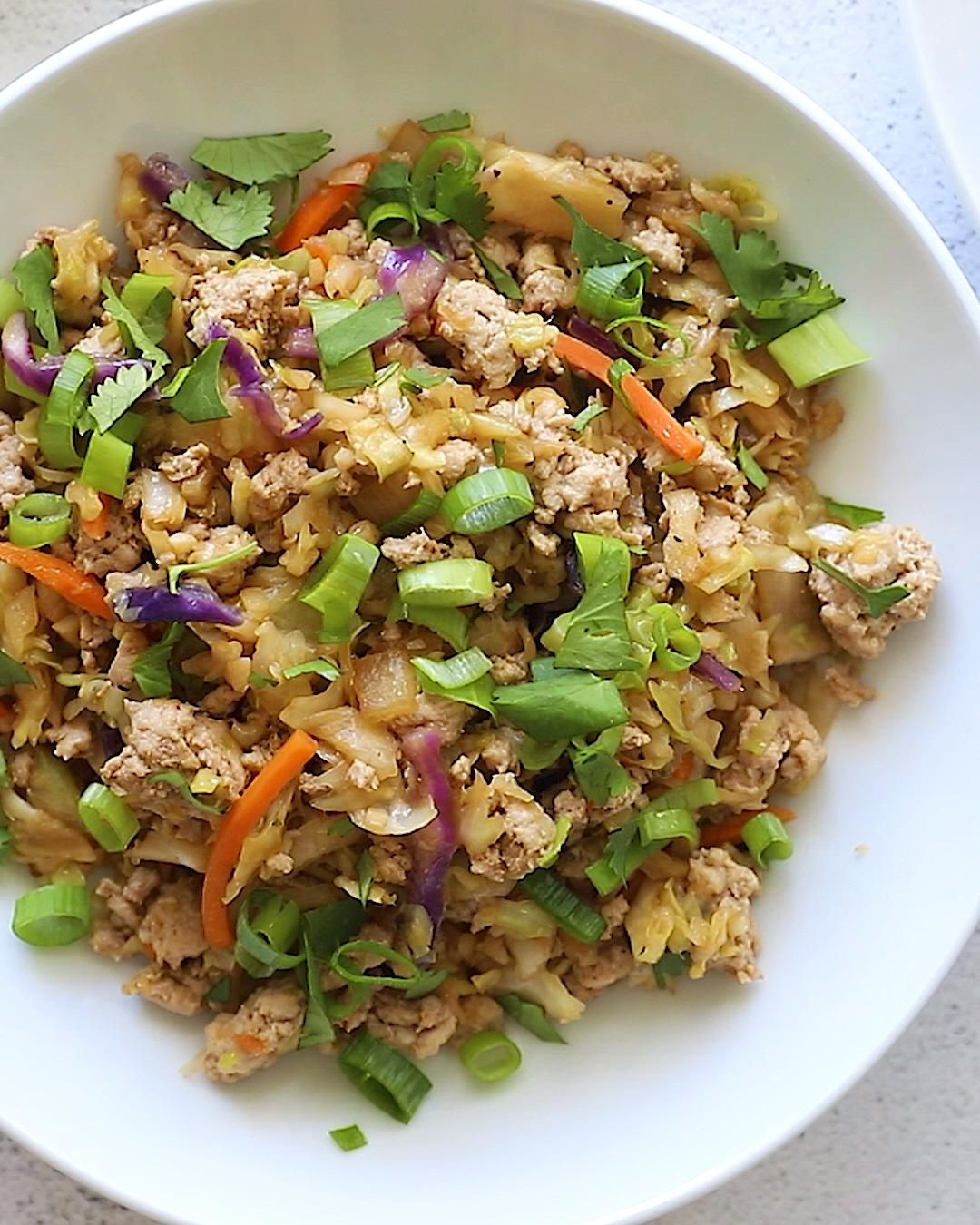Easy + Healthy Egg Roll in a Bowl