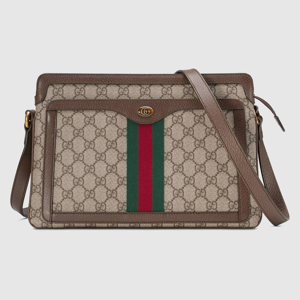fd40beb94 Shop the GG Supreme medium shoulder bag by Gucci. First developed by Gucci  in the