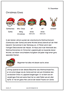 Advents Aktivitäten für jeden Tag (13/14) | Deutsch | Pinterest