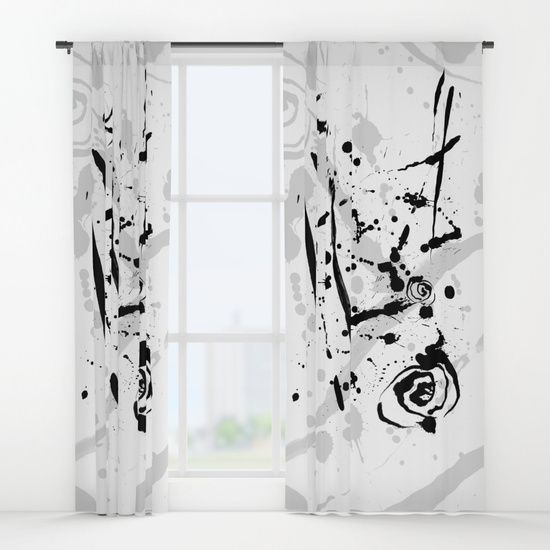 Modern Art Abstract Black And White Window Curtains White Windows Modern Art Abstract Modern Abstract Painting