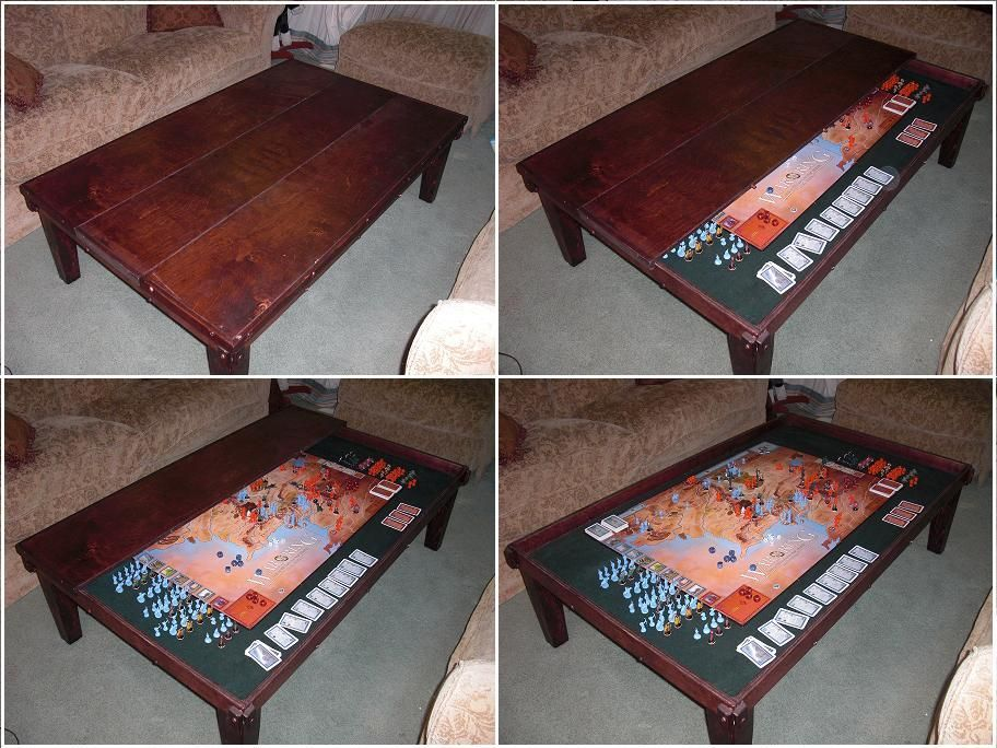 double use gaming table play games over multiple sessions by storing beneath table board. Black Bedroom Furniture Sets. Home Design Ideas