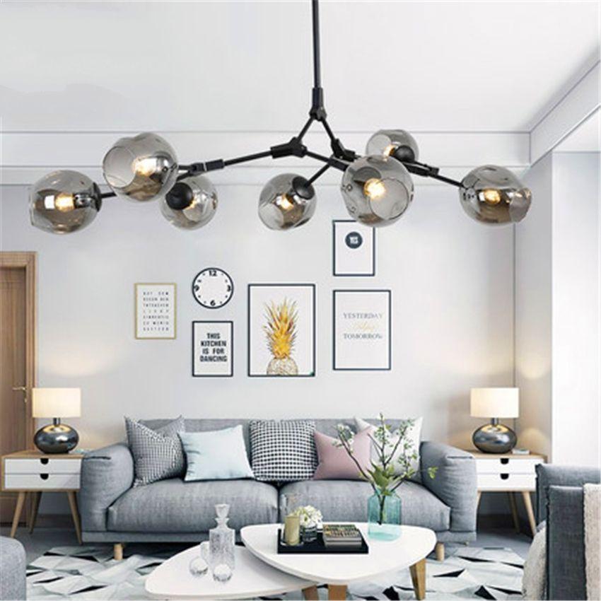 Modern Pendant Creative Bedroom Ceiling Chandelier Led Glass