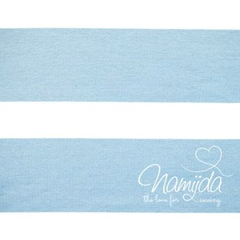 0.5 MTR.  ♥ JERSEY - XL BLOCK Stripes - WHITE / PU BLUE - Strip width 6 cm ♥