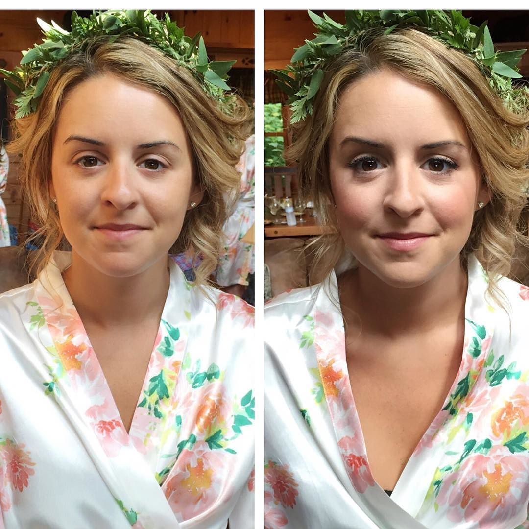 Whitney wanted a no makeup look with subtle emphasis on eyeliner and lashes. We recommended to go a little more than a nude for the lip too.  HA: @lovelypeacock MU: @jessica_lyness  #BeautyAsylum #bridalhair #bridalmakeup #weddinginspiration #airbrush #makeuplooks