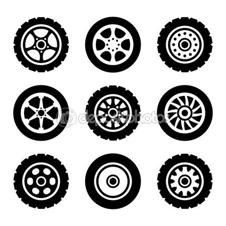 car wheels icons set stock illustration 71428251 car mobile