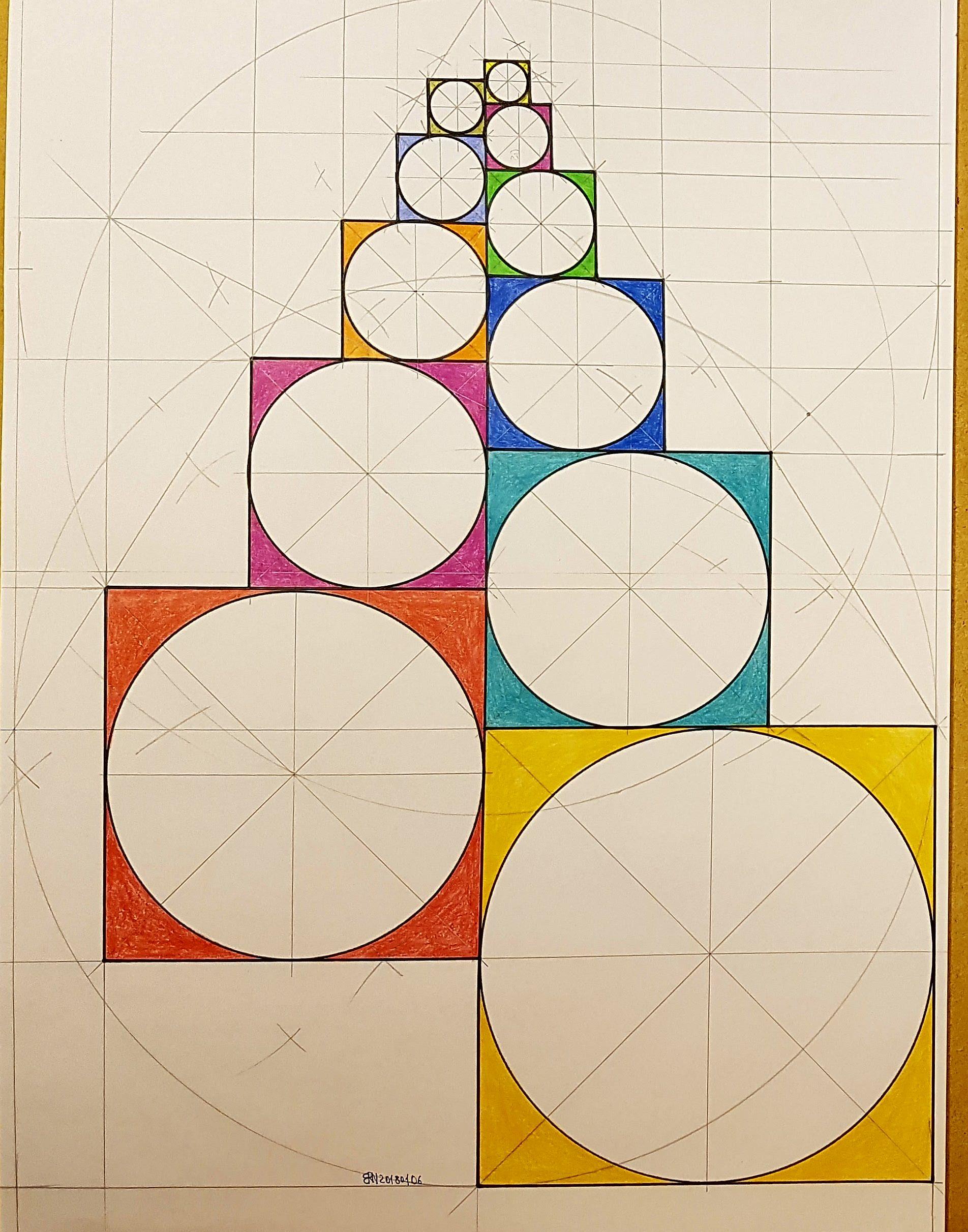 fractal #fibonacci #geometry #symmetry #handmade #mathart #regolo54 ...