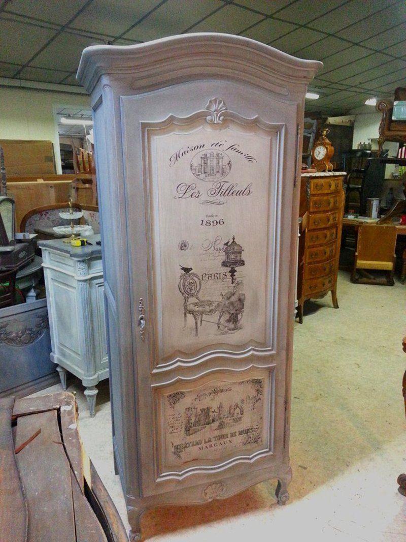 Patines et transferts meuble bois pinterest - Meubles peints patines ...