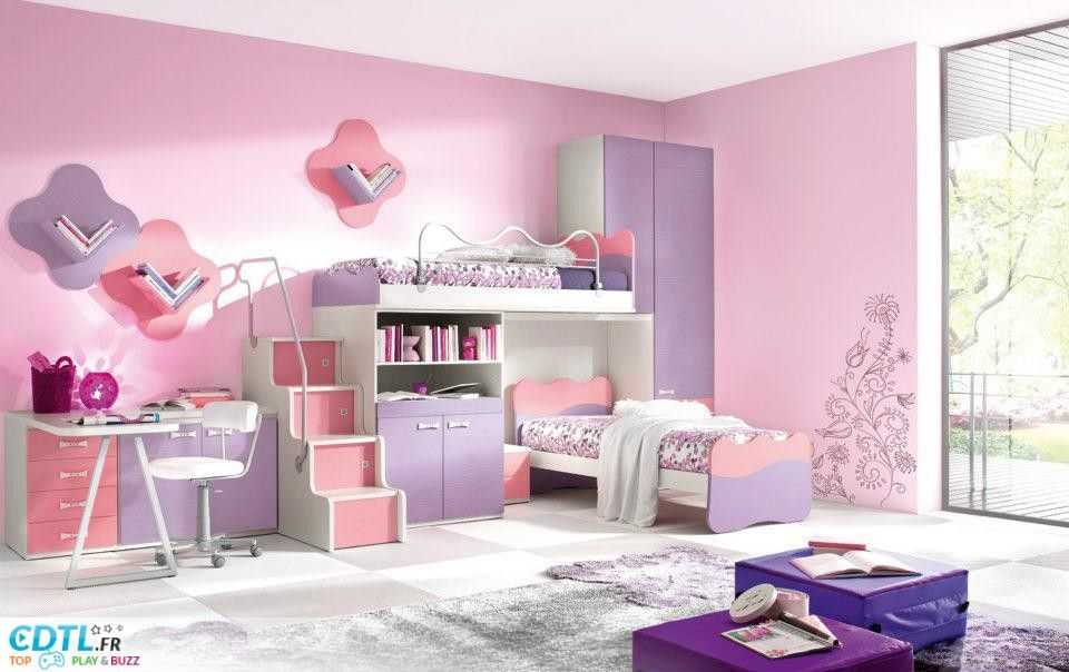 Photo Deco Chambre Fille  Ans  Chambre Fille    Luxury