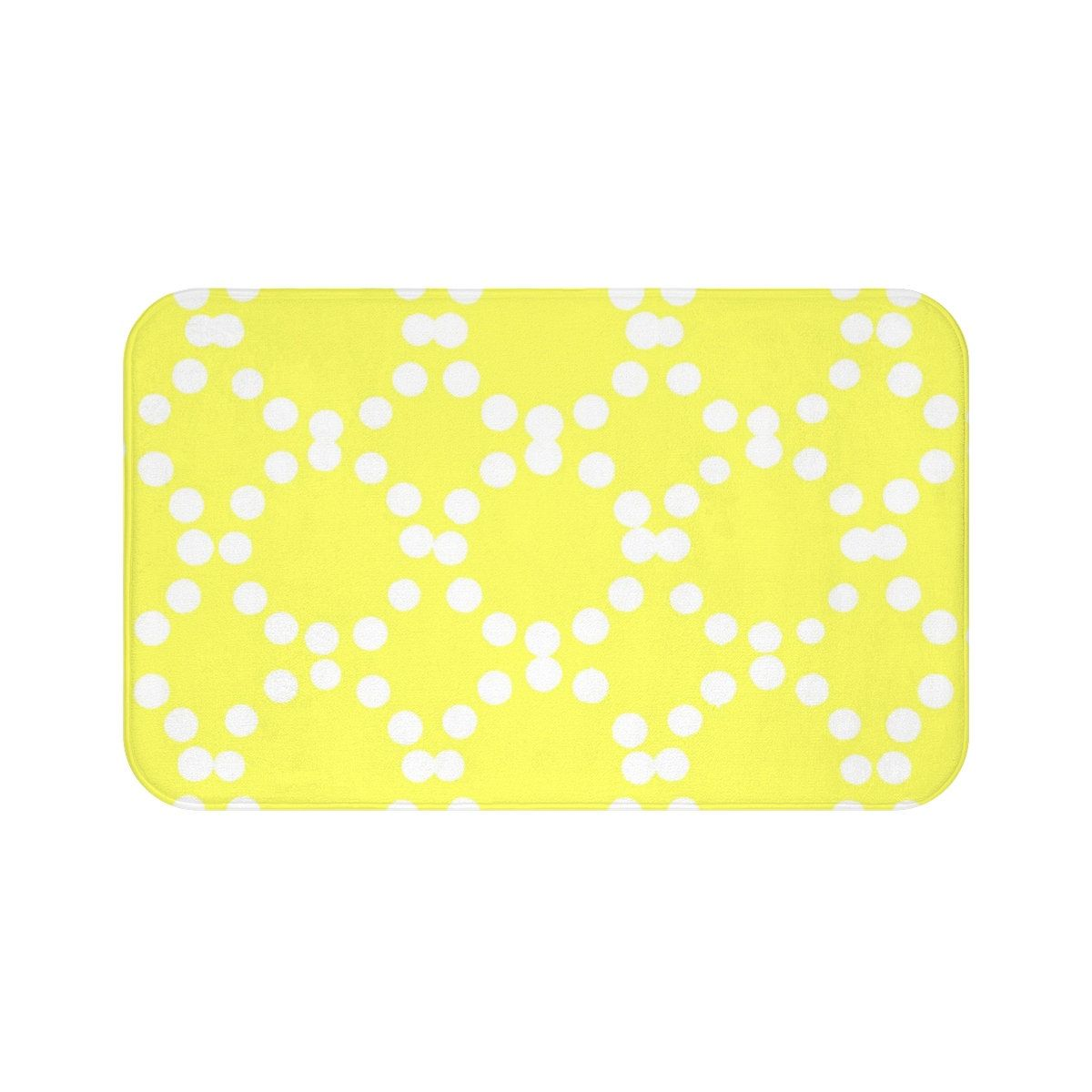 Lemon Yellow Bath Mat Yellow And White Bath Mat Ring Dot