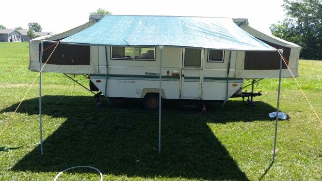 Homemade Awning For Popup Camper Camper Awnings Popup Camper Diy Awning