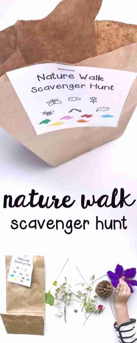Nature Walk Scavenger Hunt: Such a fun outdoor activity for toddlers and preschoolers! #Fitness