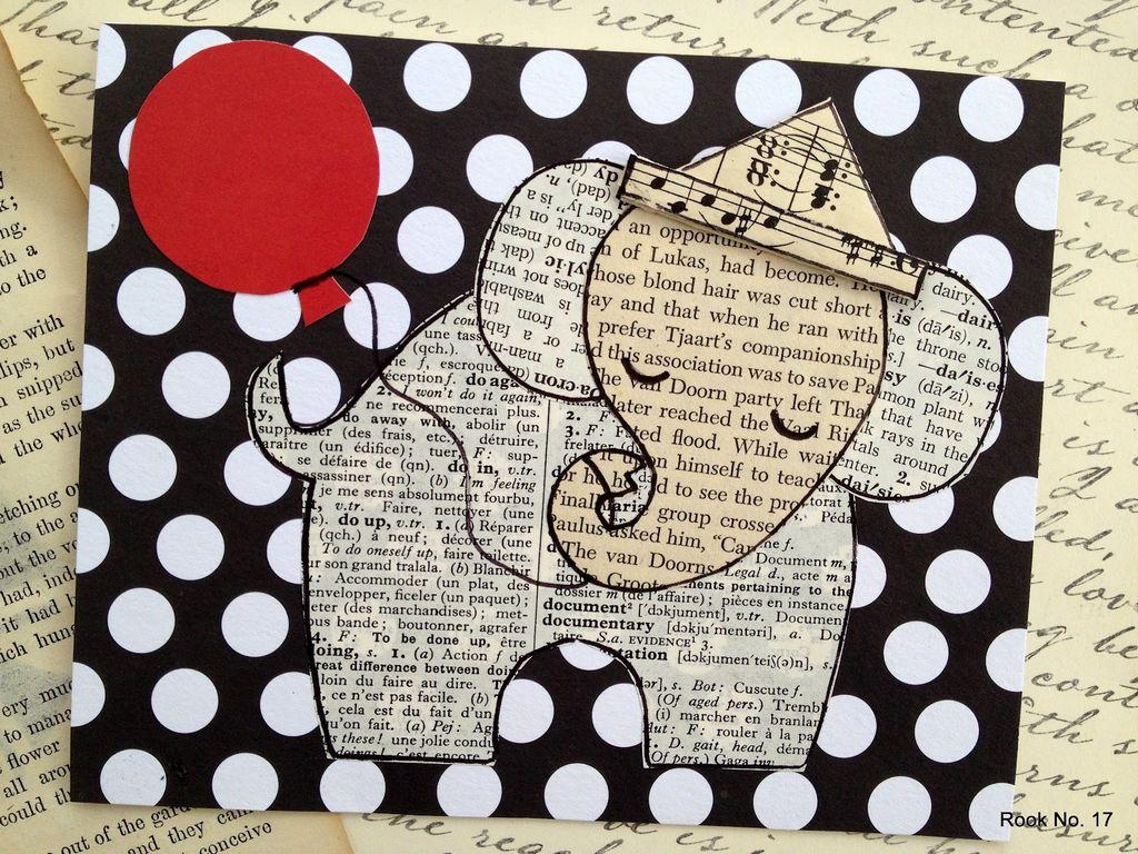 Слон на открытке