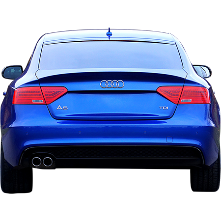 A Blue Audi In A Parking Spot Photo With Background Removed