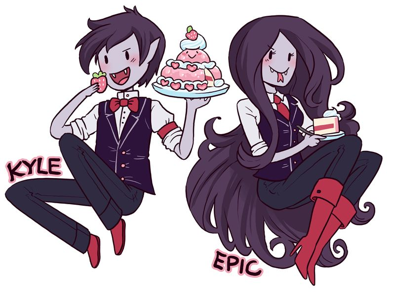 Marceline And Marshall Lee Con Badges By Nakira On DeviantART