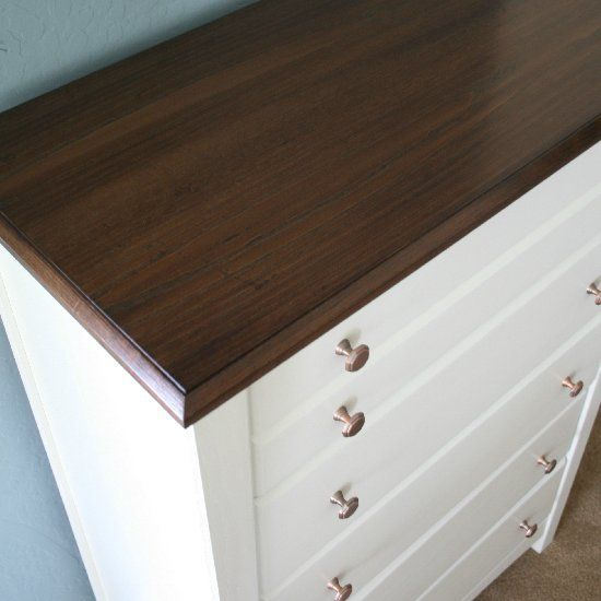 I took a golden oak dresser, straight out of the 90\'s and ...