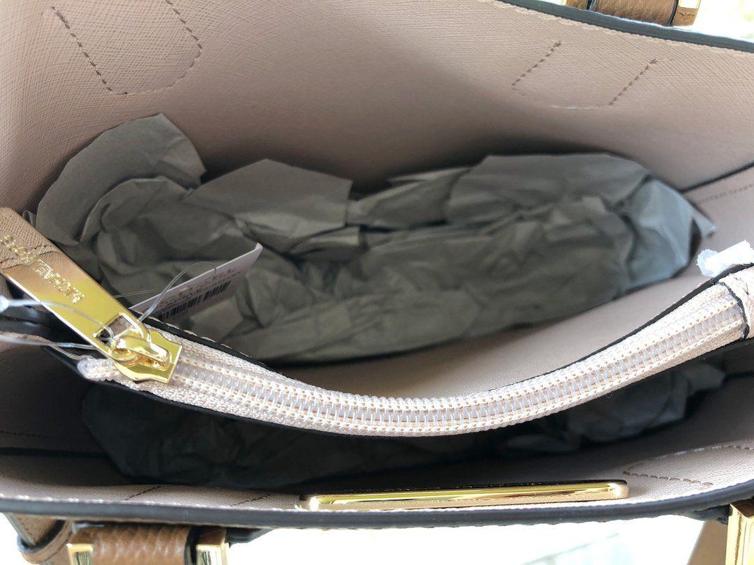 b0db99a0a25a Michael Kors Adele Mercer Medium Messenger Bag Luggage - Gaby's Bags