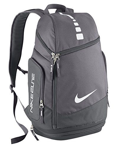 Nike Air Elite Max Backpack Hoops Team Basketball Charcoal Dark BrdCxoe