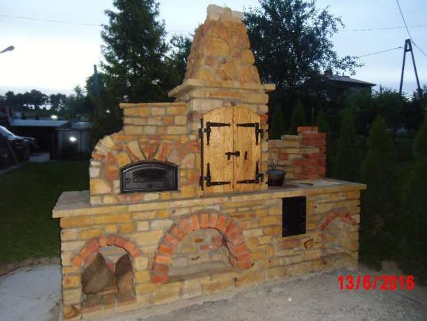 Niesamowite Grill ogrodowy z kamienia, wędzarnia, piec chlebowy Jasienica QW33