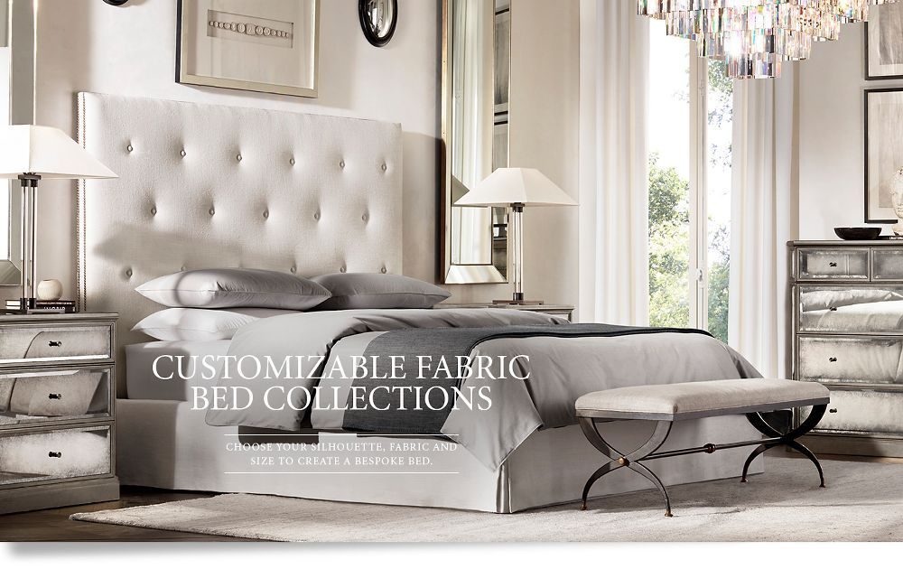 Fabric Bed Collections | plush homes interior design | Pinterest ...
