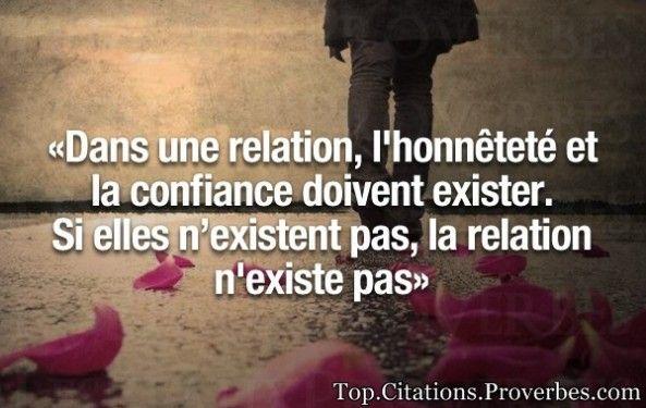 Citation Confiance Dans Une Relation L Honnêteté Et La