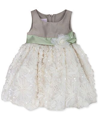 fa62e8694ed8 Bonnie Baby Baby Girls' Special Occasion Dress - Kids - Macy's: the green  would go with the eucalyptus in the bouquets and this is in stock to order