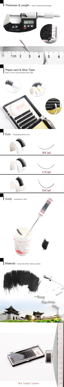 Mix Length Eyelash Natural Long All Size Eyelashes Extension Korea