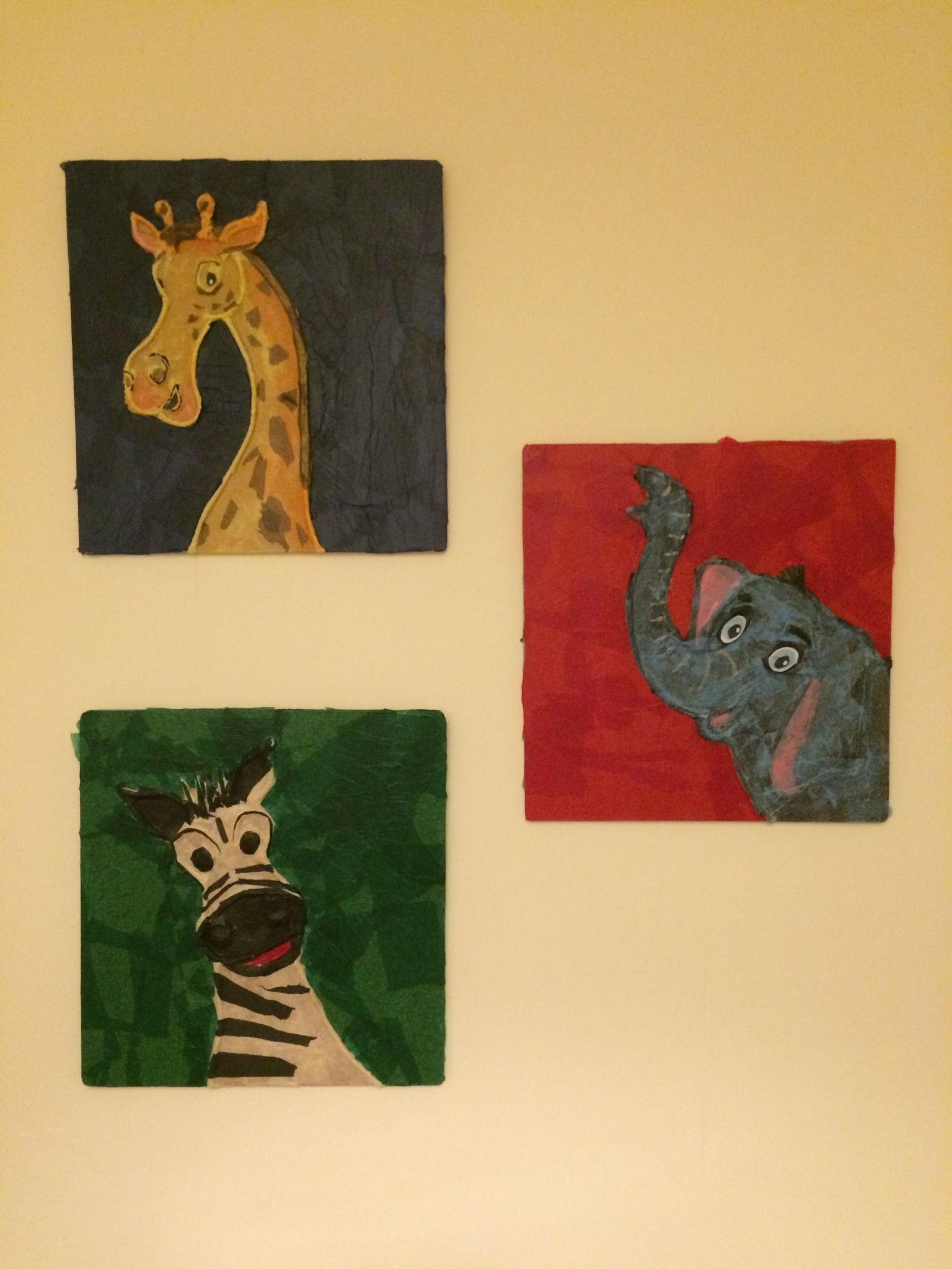 String and paper mache tissue paper to create striking wall art ...