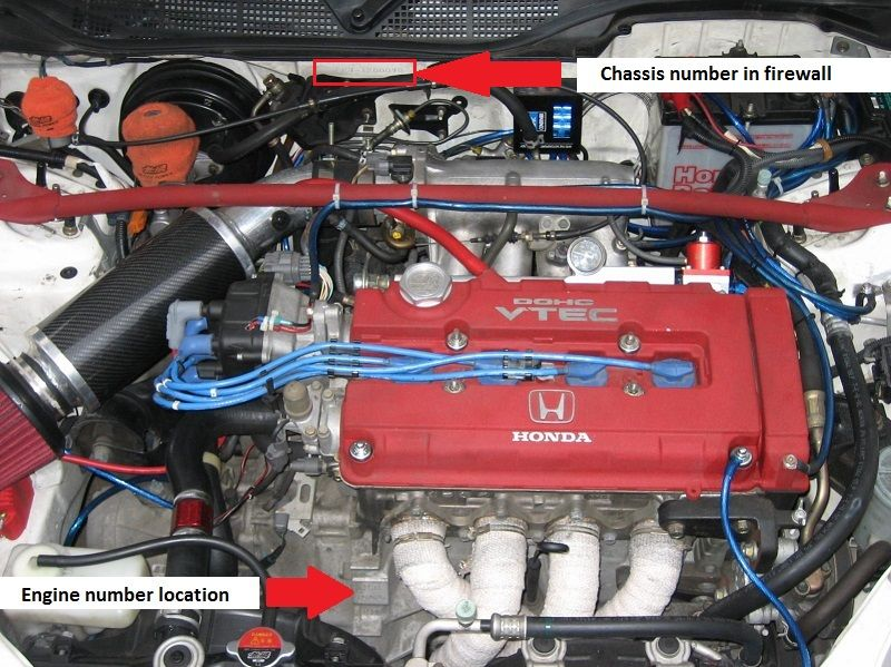 Type R Honda Civic Ek9 Engine Number Location Honda Civic Honda Civic Type R 2000 Honda Civic
