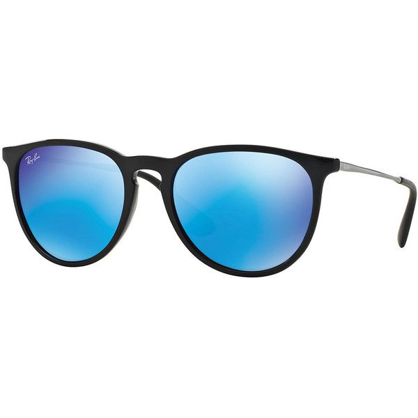 77327afb48 Ray-Ban Erika Mirrored-Lens Metal-Temple Sunglasses (165 CAD) ❤ liked on Polyvore  featuring accessories