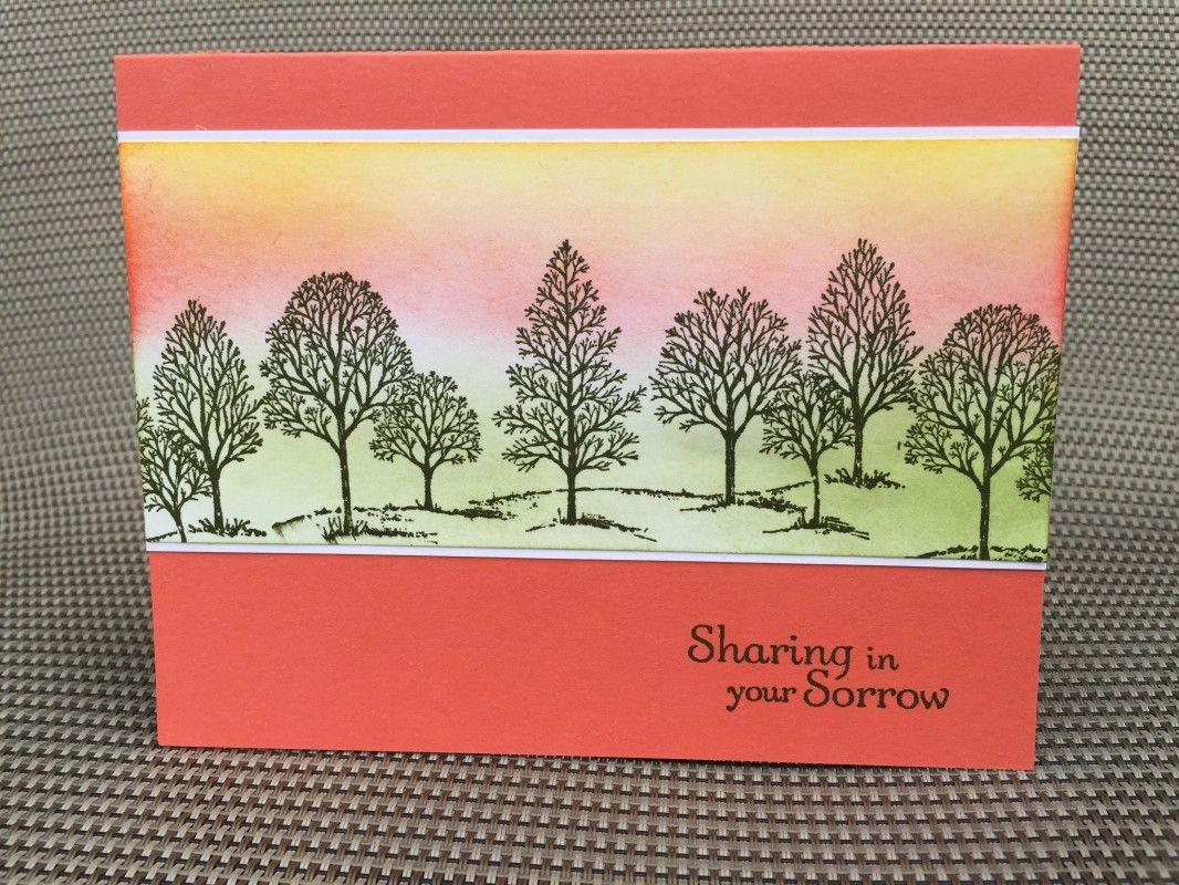 Lovely As A Tree Sympathy Card By Anna Masciovecchio Class Ideas