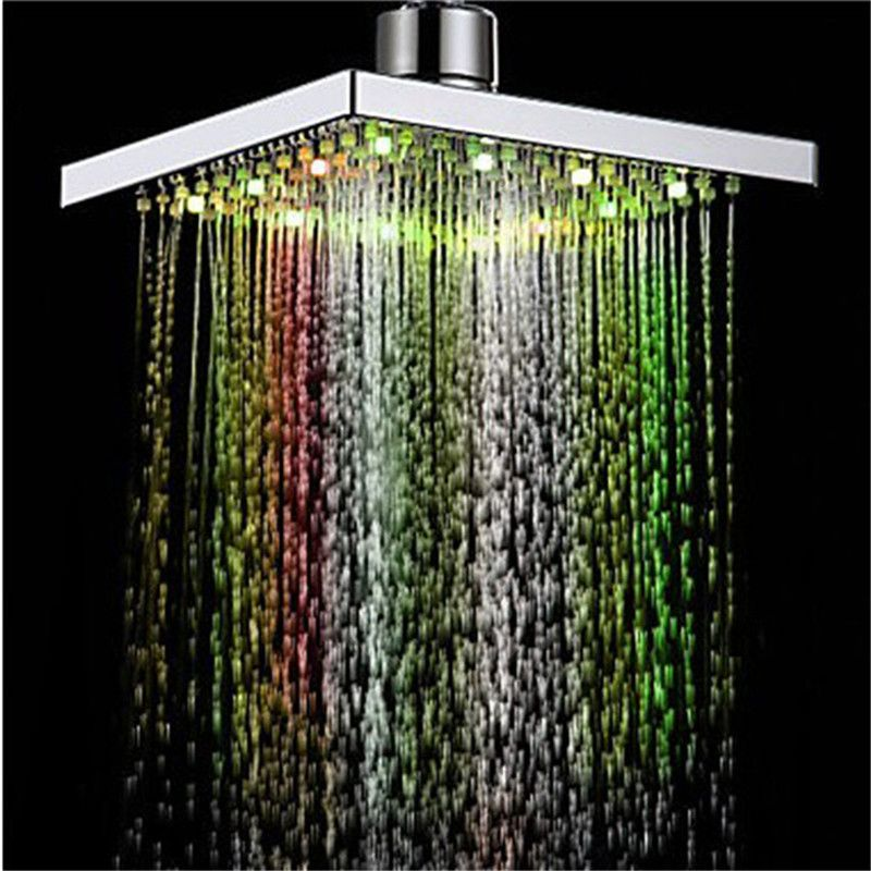Powerful LED Shower Heads LED Temperature Control 3 Color Green Red ...
