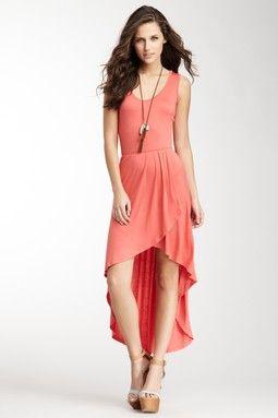 Hi-Lo Wrap Maxi Dress on HauteLook