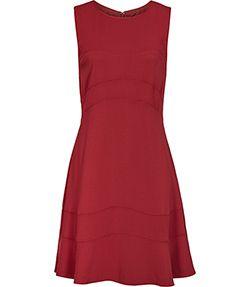 Sara Crimson Panelled Dress - REISS