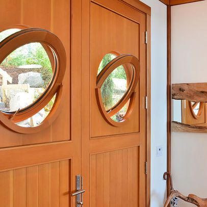 Porthole Windows For Doors Typical Front Door To A Streamline Moderne Bar With Porthole Window Art Deco Door Art Deco Kids Church Decor