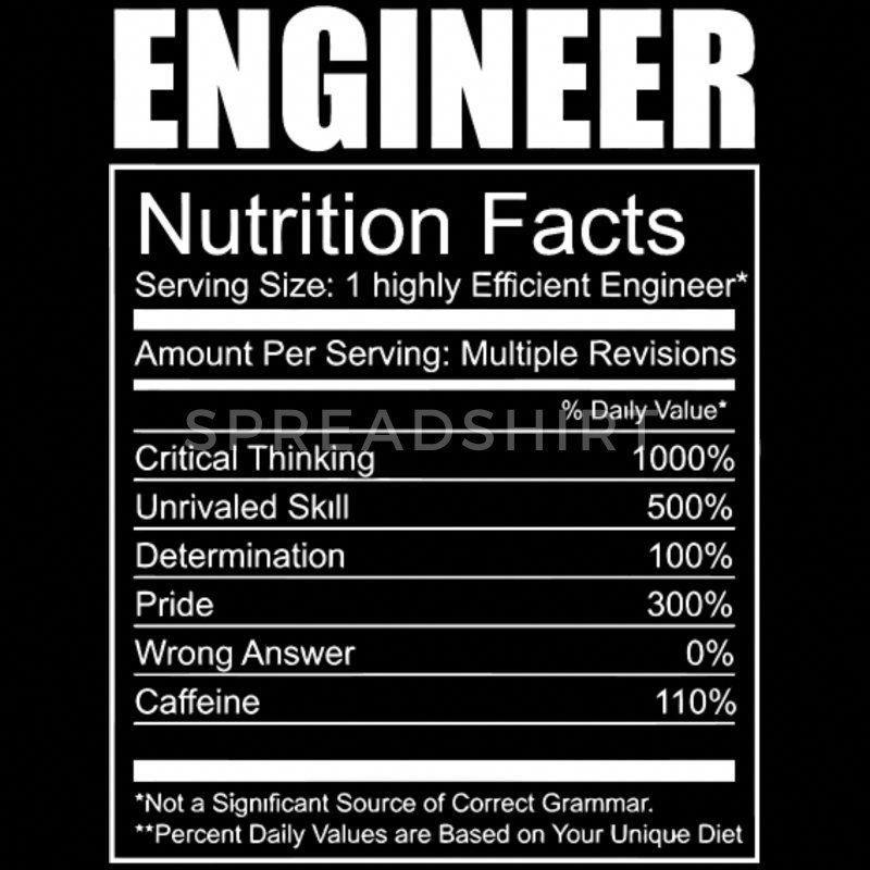 Engineer - Engineer - Funny Engineer Nutrition - Men's ...